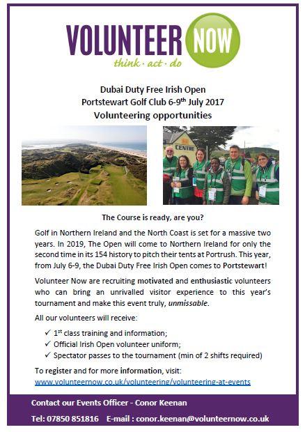 Irish Open Volunteering