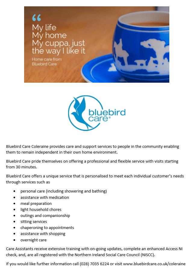 Poster for Bluebird – Castlerock Community Website